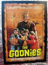 THE GOONIES 42 CARDS inc #1 & 86 UNCHECK CHECKLIST Steven Spielberg 1985 TOPPS