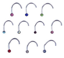 Lot de 100 piercing NEZ STRASS acier chirurgical 316 L