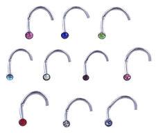 Lot de 100 piercing NEZ STRASS acier chirurgical 316 L