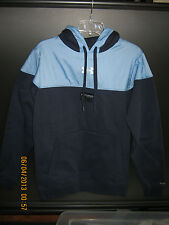 NWT Mens Long Sleeve Solid Navy Under Armour STORM Hoodie, Polyester & Cotton S