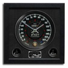 Chronos Speedometer Art Print Wall Clock Jaguar E Type Black Vinyl