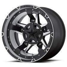 18 inch Silver Black XD827 Wheels Rims Chevy Truck Jeep Wrangler JK 5x5 SINGLE