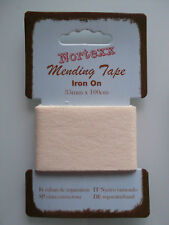 Iron on 100 Cotton Mending Tape - 35mm X 100cm -choice of 10 Colours Cream