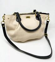 J. CREW BROMPTON Mini Hobo in Cream & Black Colorblock Purse Shoulder Bag 21971