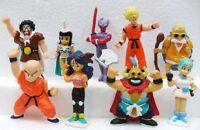 Dragon Ball SET DI 9 FIGURE gomma/plastica morbida misura cm. da 6,5 a 8