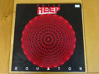 Uriah Heep Equator Vinyl Portrait Label with Lyric Sheet LP Record is Near Mint