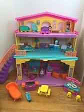Dora The Explorer Talking Folding Dollhouse Play Set Doll Figures Furniture Lot