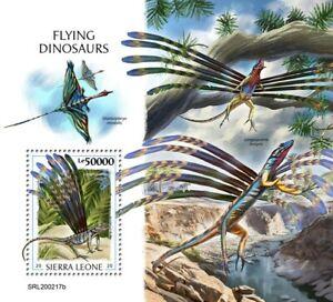 Sierra Leone Flying Dinosaurs Stamps 2020 MNH Prehistoric Animals 1v S/S