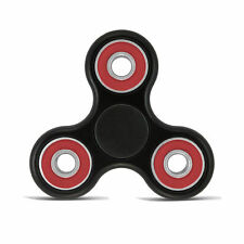 Stress Relief Hand Spinner and Spinning Fidget - Black & Red - US Seller