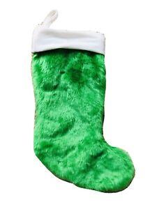 20 In Green White Plush Christmas Stocking