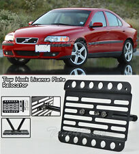 For 03-07 Volvo S60 R Front Tow Hook License Plate Relocator Mount Bracket Sedan