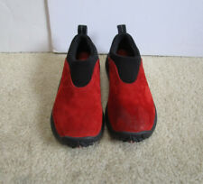 bd2ded158189d Merrell Orbit MOC Kid s Sunset Red Suede Leather Clogs Slip On Shoes Size  US 12