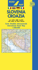 SLOVENIA CROAZIA CARTINA STRADALE [SCALA: 1:300.000] [CARTA/MAPPA] BELLETTI SRL
