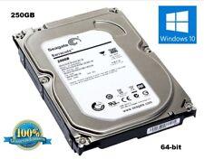 """250GB Hard Drive 3.5"""" SATA 64-bit Windows 10 w/ Reinstall and Office 2013 DVD's"""