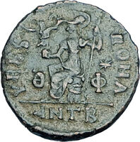 VALENTINIAN II 378AD Antioch Authentic Ancient Roman Coin VRBS ROMA i65948