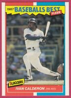 1987 Fleer Baseball Best Sluggers vs Pitchers # 7 Ivan Calderon