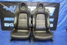 2000 2001 HONDA S2000 AP1 F20C OEM FACTORY BLACK LEATHER SEATS #3200