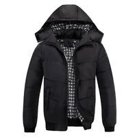 Men's Winter Warm Ultralight Hooded Thick Padded Jacket Puffer Bomber Outwear