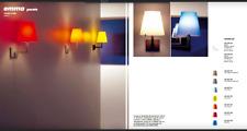 Viabizzuno Emma vetro Giallo lampada a parete / applique E14 60W
