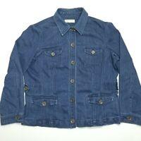 Jones New York Sport XXL Women's Blue Stretch Denim Button Up Jean Jacket