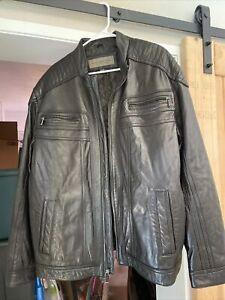 Marc New York Andrew Marc Black Leather Jacket Mens XXL