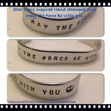 Handmade Star Wars Inspired May The Force Be With You Rebel Alliance Symbol Cuff