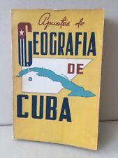 Apunyed de Geografia De Cuba Delia Diaz de Villar Paperback 1965