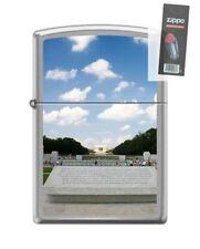 Zippo 200 world war II memorial WWII Lighter + FLINT PACK