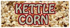 "12"" Kettle Corn Carmel Popcorn Korn Popped Fresh Concession Stand Sign"