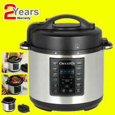Crockpot Express Pressure Multi Cooker 5.6 Litre Brushed Stainless Steel CSC051