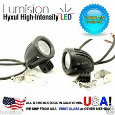 "Lumision Hyxul 10W 2"" PAIR Round Spot High Intensity LED Light Fog Lamp Truck RV"