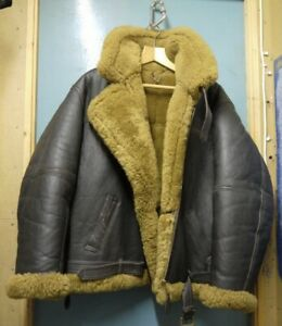 Original Aviation Leathercraft Irvin RAF Sheepskin Leather Flying Jacket Size46