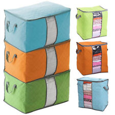 Foldable Storage Bag Clothes Pouches Blanket Quilt Closet Sweater Organizer Box