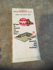 Vintage Map: 1965 Metropolitan Washington DC, Flying A, Tidewater Oil co