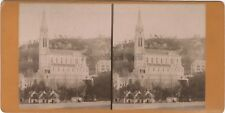 Lourdes France Photo Viron Stereo Vintage Albumine ca 1880