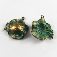 10pcs Vintage Bronze Alloy Morning Glory Pendant Charms Jewelry DIY Findings