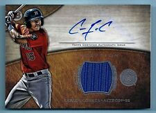 CARLOS CORREA 2014 BOWMAN INCEPTION GAME WORN JERSEY AUTOGRAPH AUTO