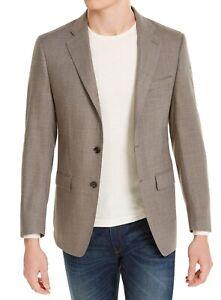Calvin Klein Mens Sport Coat Brown Size 40 R Slim Fit Tweed-Look Blazer $350 183