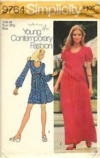 Vintage 1971 Simplicity Sewing Pattern # 9764 Misses' Dress In Two Lengths
