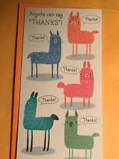 Hallmark Thank You Greeting Card Cute Llama's Great Price