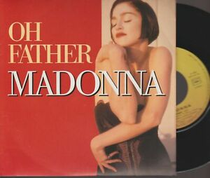 """Madonna Oh Father 45T 7"""" 45 Tours SP France French Pressing 922 723-7"""