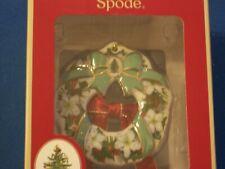 Spode Christmas Tree Wreath Ornament Flowers & Ribbons 4040712 NIB