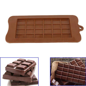 Square Chocolate Mould Bar Block Ice Silicone Cake Candy Sugar Bake Mold Tray