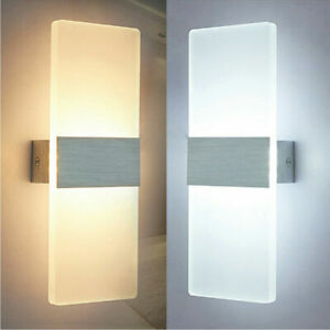 Modern LED Wandleuchte Wandlampe Flur Strahler Up Down Außen/Innen 12W Leuchte