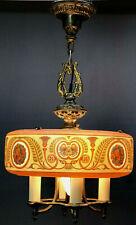 New listing c1920s Art Deco Egyptian Revival Ceiling Lamp Lightolier Hanging Antique Nouveau