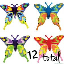 (12) Butterfly Inflatable Blow Ups ~ Toy Party Bright Colorful Butterflies (1dz)