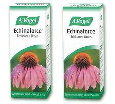 2X A.Vogel Echinaforce Drops 50ml Echinacea Cold and Flu Remedy THR 13668-0002