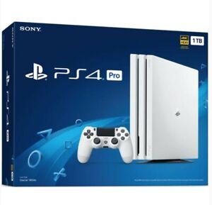 Sony PlayStation 4 Pro 1TB Glacier White Console Brand New