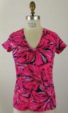 Lilly Pulitzer Michele Top V Neck Shirt Flirty Size XL