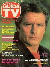 rivista NUOVA GUIDA TV ANNO 1984 NUMERO 20 ALIAN DELON